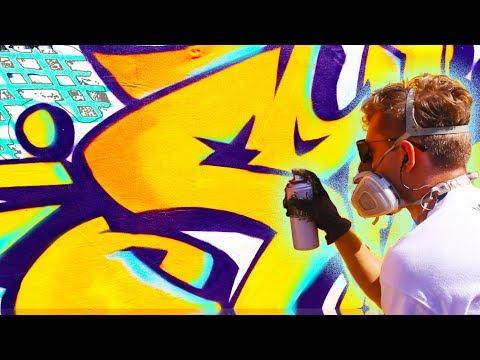 BRIGHT BACKYARD GRAFFITI PIECE  -SIVE- Ironlak- Fresh Paint-