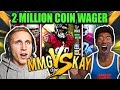 INSANE 2 MILLION COIN WAGER VS MMG! MADDEN 17 DRAFT CHAMPIONS