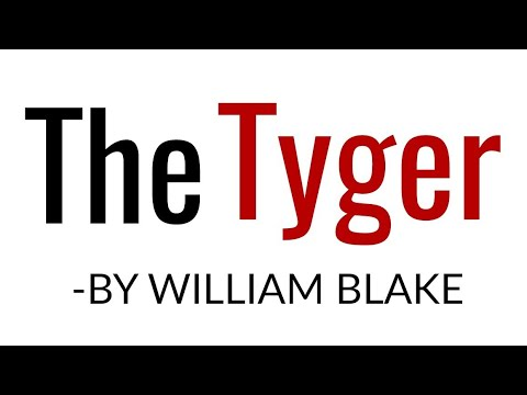3995552bf446 The Tyger  poem By William Blake in Hindi Line by line Explanation   summary