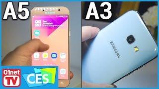 Première prise en main des Samsung Galaxy A3 et A5 version 2017 ! - CES 2017
