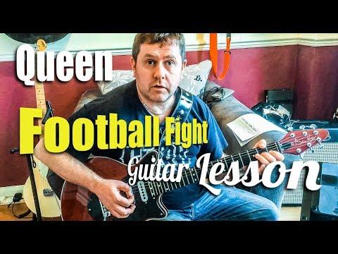 Football Fight - Queen - Guitar Tutorial