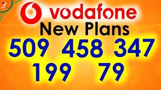 Jio Effect | Latest Vodafone Plans Rs.509 , 458 , 347 , 199 , 79 | Data Dock