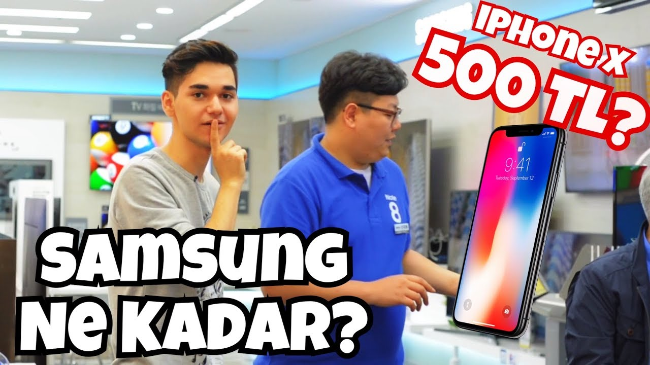 Kore'de Elektronik Alet Fiyatları! 500TL IPHONE X?  Apple iPhone X Kaç Lira?