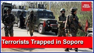 3 Terrorists Trapped In Zaloora Village Of Sopore, Jammu & Kashmir