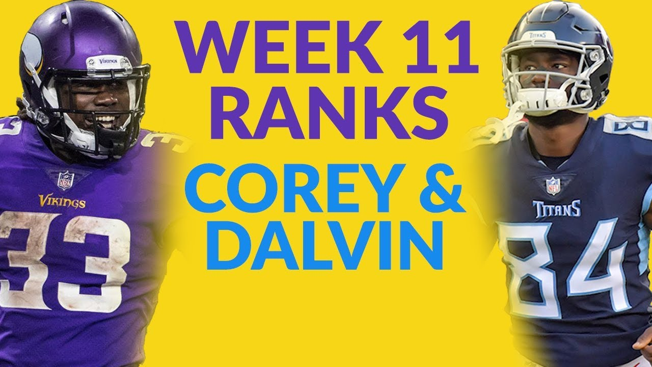 Corey Davis And Dalvin Cook Highlight Our Look At The Week 11