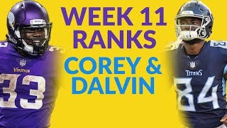 Corey Davis And Dalvin Cook Highlight Our Look At The Week 11 Fantasy Football Ranks