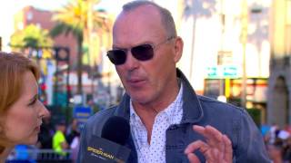 Michael Keaton Swoops Into the Spider-Man: Homecoming Red Carpet World Premiere