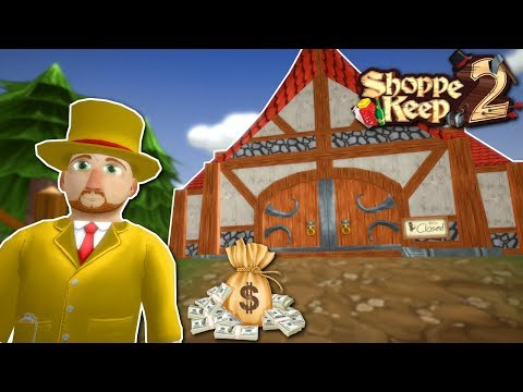 MAN BECOMES RICH BATTLING  CREATURES! - Shoppe Keep 2 Gameplay & Early Access Demo |