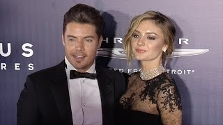 josh henderson and christine evangelista 2017 nbcuniversal golden globes after party