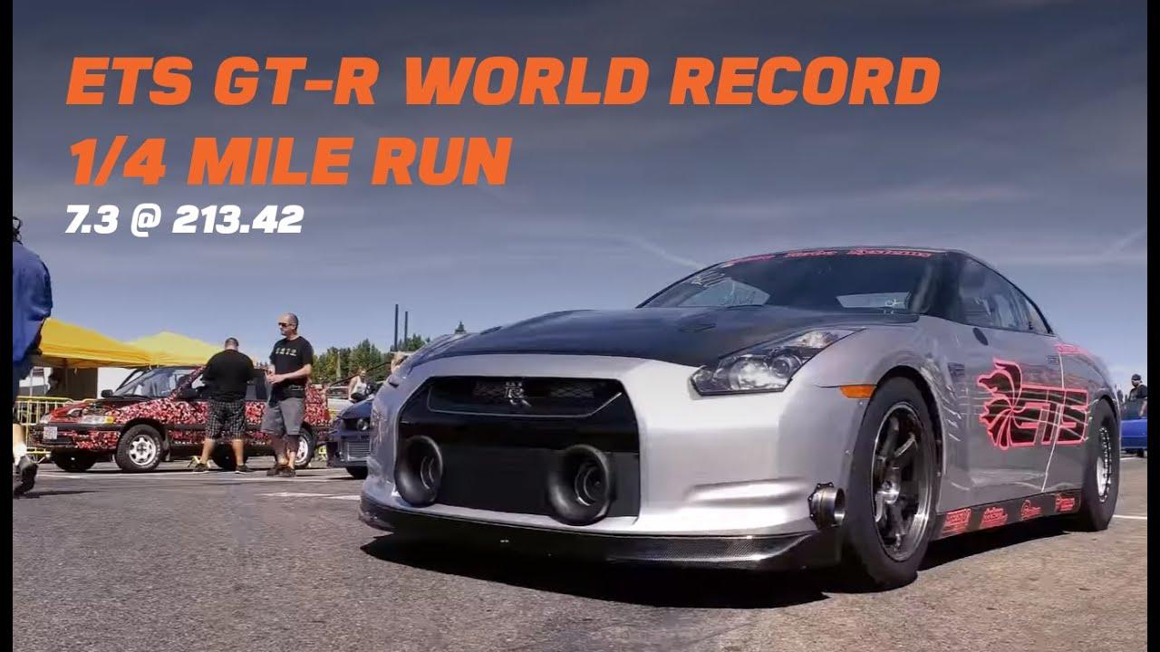ets fastest gt r 1 4 mile world record 7 3 8 28 16 import face off 4k youtube. Black Bedroom Furniture Sets. Home Design Ideas