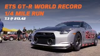 ETS fastest GT-R 1/4 mile world record 7.3 @ 213.42 (8-28-16 Import Face Off) // 4K