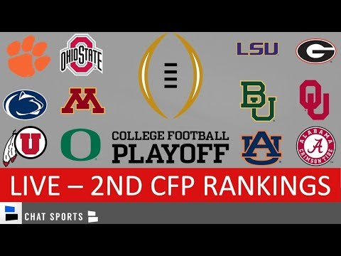 CFP Rankings – 2nd College Football Playoff Rankings For 2020
