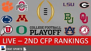 CFP Rankings LIVE – Top 25 Teams In 2nd College Football Playoff Rankings For 2020