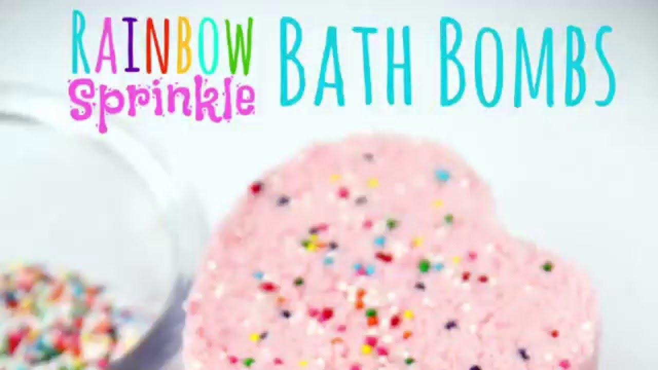 rainbow sprinkle bath bombs - youtube
