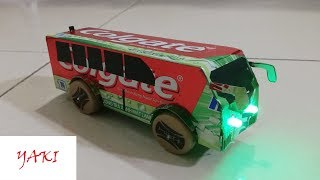 wow! Amazing DIY Colgate Bus - How to Make a Electric Bus With Dc Motor