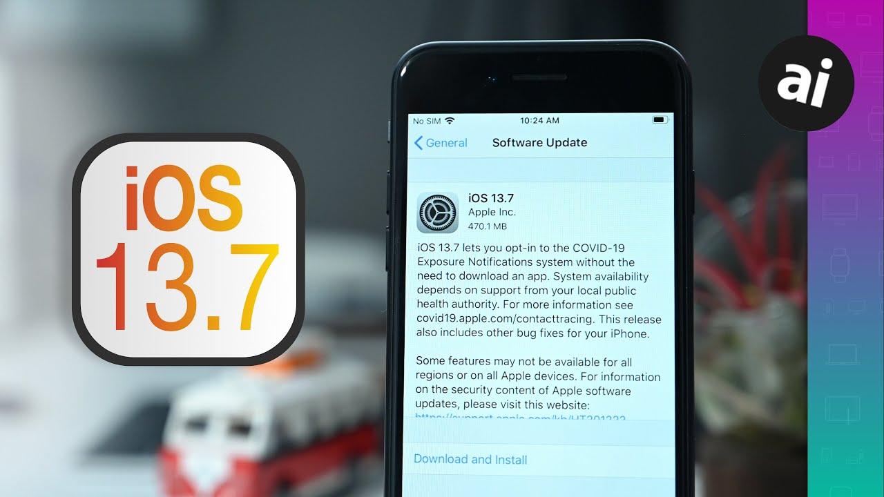 Apple releases iOS 13.7, iPadOS 13.7 with Exposure Notification update