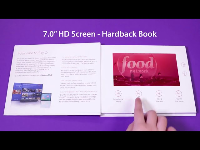 7 inch HD LCD Screen Video Hardcover Brochure with Buttons  VGC-070
