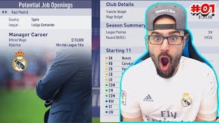 REAL MADRID OFFER ME THE JOB! - FIFA 18 Career Mode #01