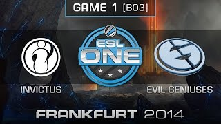 Invictus Gaming vs. Evil Geniuses - Grand Final Map 1 - ESL One Frankfurt 2014 - Dota 2