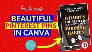 Comment Créer De Beaux Pinterest Des Épingles Dans Canva