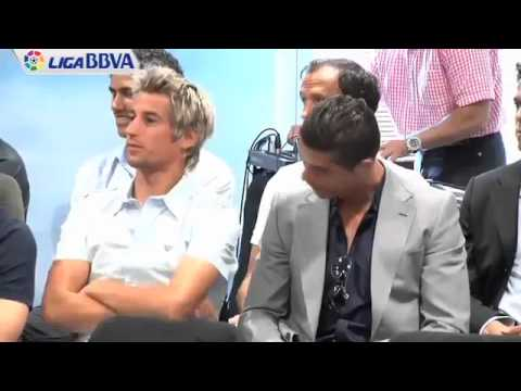 Cristiano Ronaldo chilling with Fabio Coentrao at Real Madrid Event