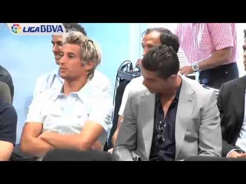 Cristiano Ronaldo chilling with Fabio Coentrao at Real Madrid Event
