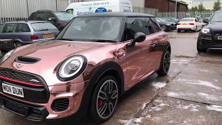 Mini JCW wrapped in Rose Gold Chrome