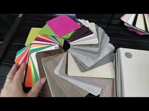 Как отличить пластик от плёнки для фасадов мебели, по образцам?