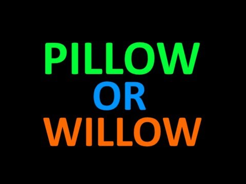 Do You Hear Pillow Or Willow?
