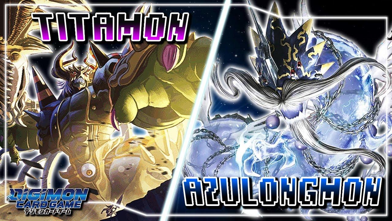 Digimon Card Game : Titamon (Purple) VS Azulongmon (Blue)