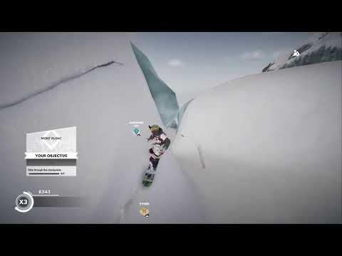 Steep snow boarding game |