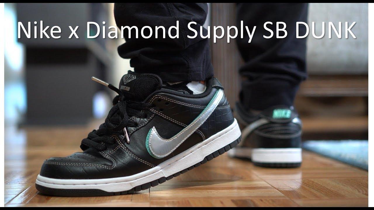 949a3faf49b3 Nike x Diamond Supply - SB Dunk Review On-Feet - YouTube