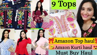 🌺Latest Amazon Top Haul🌺Flipkart Kurti Haul🌺Amazon Embroidered kurti Haul🌺Preena🌺