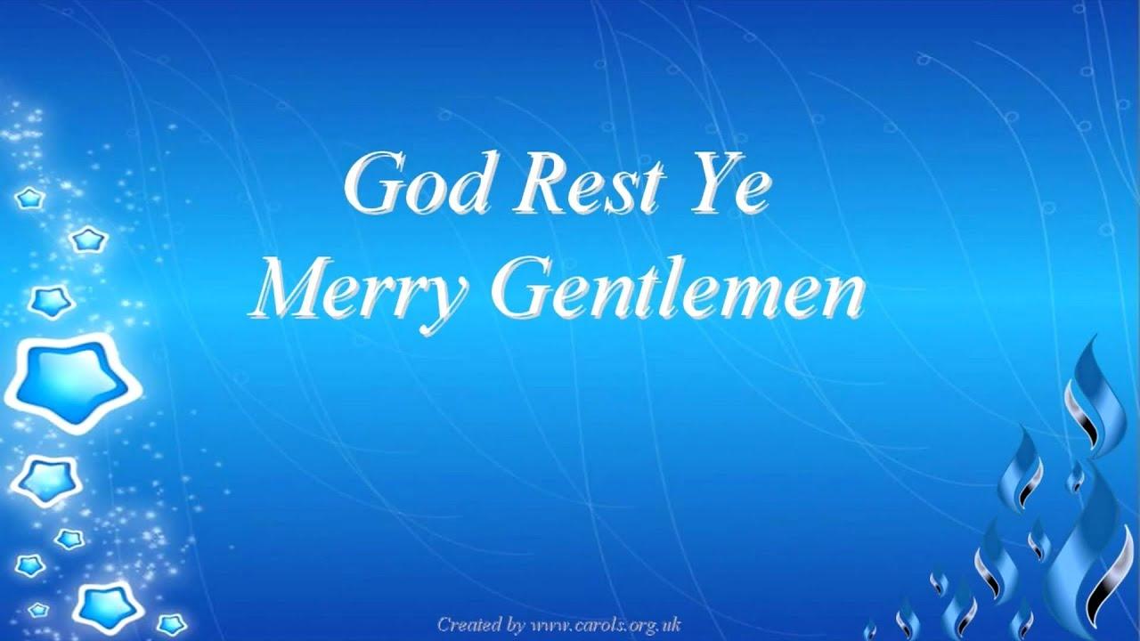 GOD REST YE MERRY GENTLEMEN Lyrics - YouTube