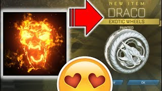 *WOW* TRADING HELLFIRE to WHITE DRACOS in 1 DAY!!!!!!! [Rocket League HD : Episode 46]