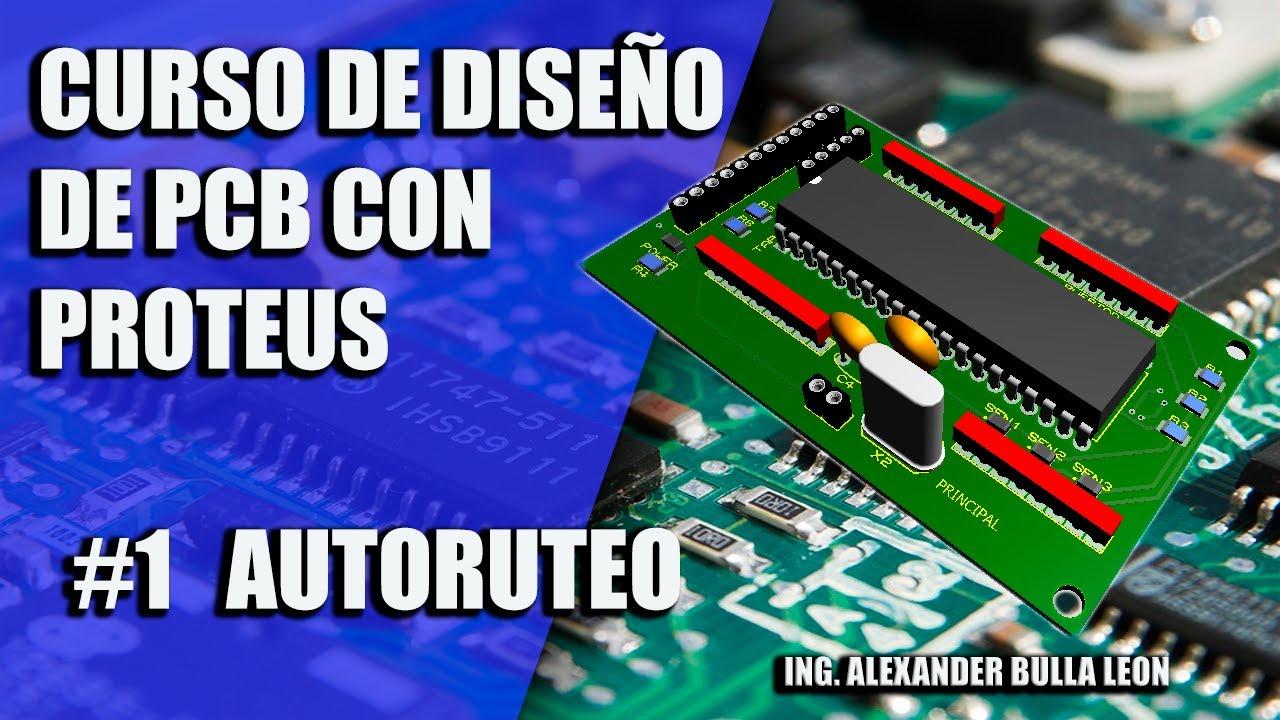 Circuito Impreso : DiseÑo de circuito impreso en proteus autoruteo de pcb youtube