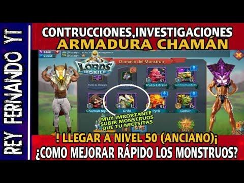 Lords Mobile - ¿COMO MEJORAR RÁPIDO LOS MONSTRUOS A NIVEL 50(ANCIANO) - ARMADURAS Y MAS