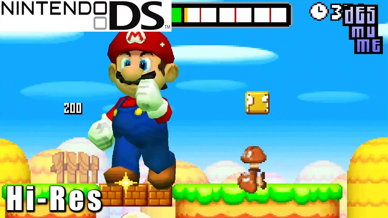 New Super Mario Bros Nintendo Ds Gameplay High Resolution Desmume Youtube