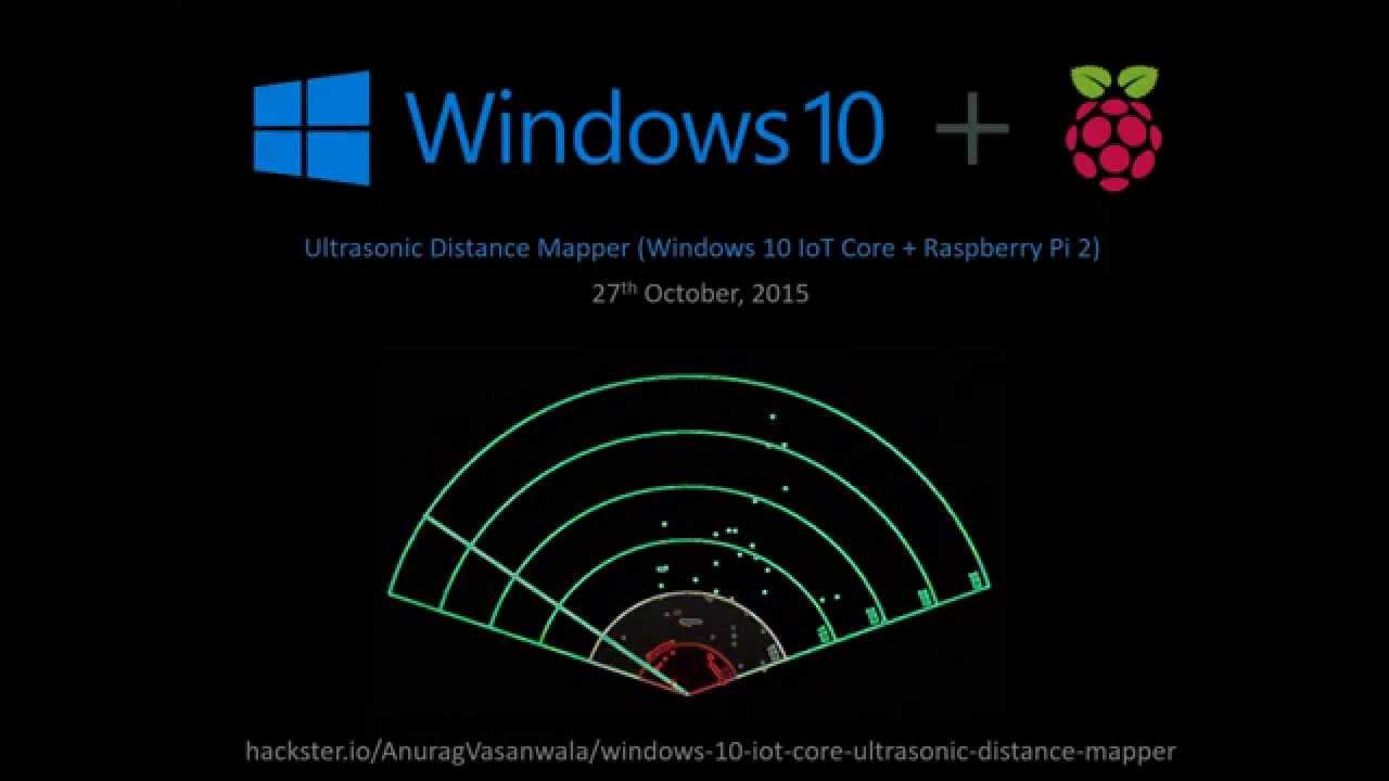 Ultrasonic Distance Mapper Windows 10 Iot Core