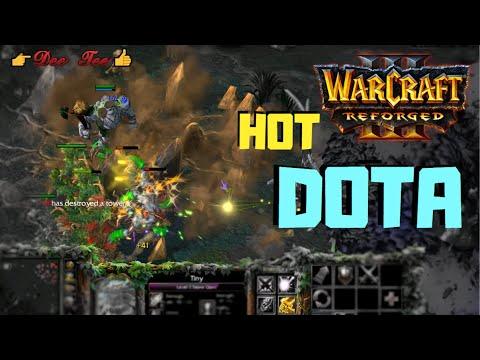 Warcraft 3 Reforged:  DOTA - Tiny (Stone Giant) Skills !!!