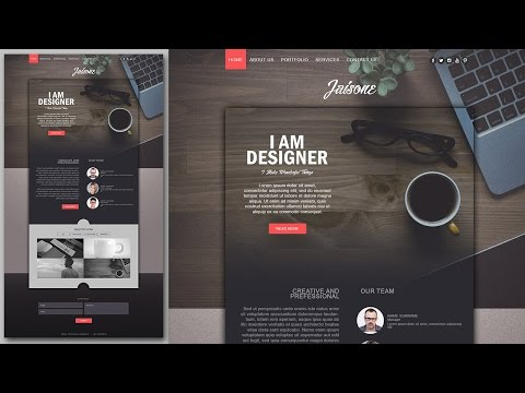 Photoshop Website Design Tutorial - Stylish Portfolio With Grain Texture