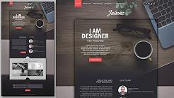 Photoshop Website Design Tutorial - Stylish Portfolio With Grain Texture