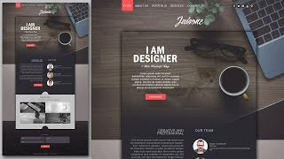 Download Video Photoshop Website Design Tutorial - Stylish Portfolio With Grain Texture MP3 3GP MP4