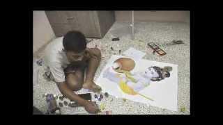 Shri Bal Krishna Painting by Atharva Mote
