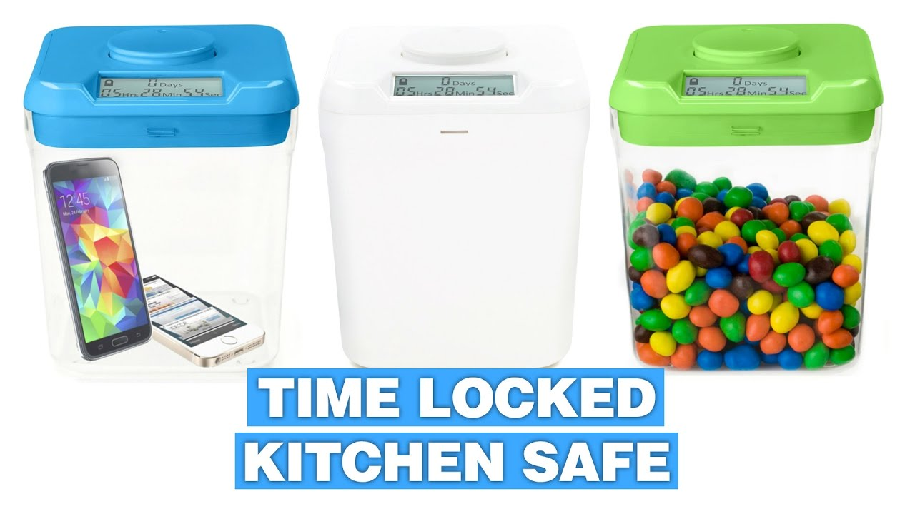 Kitchen Safe: Timed Lockable Container For Sweets, Gadgets, & Vices
