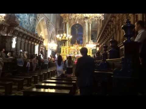 Service inside Wawel cathedral in Krakow, Poland