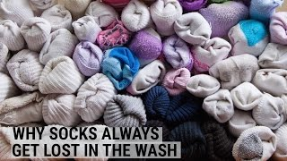 Why our socks keep getting lost in the wash