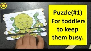 Diy Puzzle From Old Drawing Book For Toddlersछोटे बच्चों के लिए Puzzle