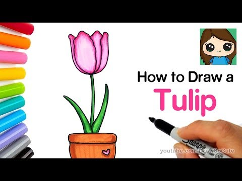 how-to-draw-a-tulip-easy-|-realistic