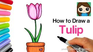 How to Draw a Tulip Easy | Realistic